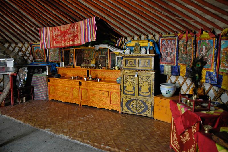Inside view of the Erdene Zuu monastery. This is also now a museum. Kharkhorin. Karakorum, Central Mongolia