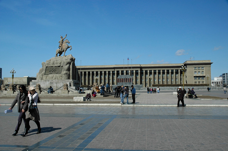 Sukhbaatar Square is the heart of Ulaanbaatar where the Parliament, the Government House, Stock Exchange and many other important establishments are concentrated. The square is named after Sukhbaatar, the famous patriot, whose statue is the main attraction on this square.