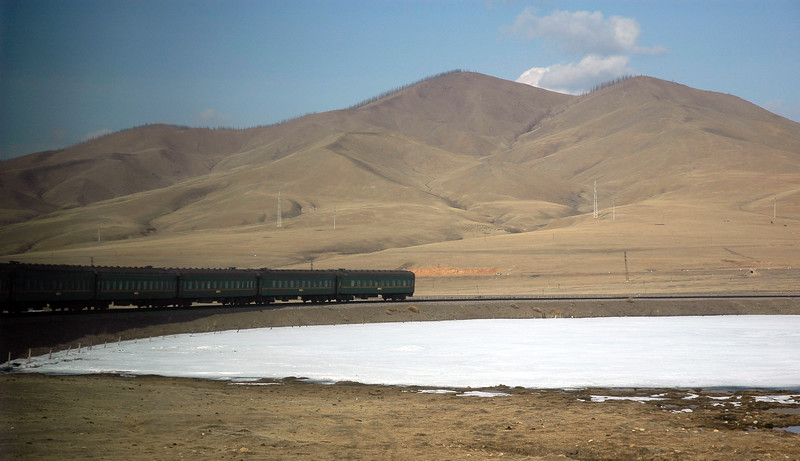 View from the train as we leave UB (Ulaanbaator), Ulaan Bator, Mongolia.