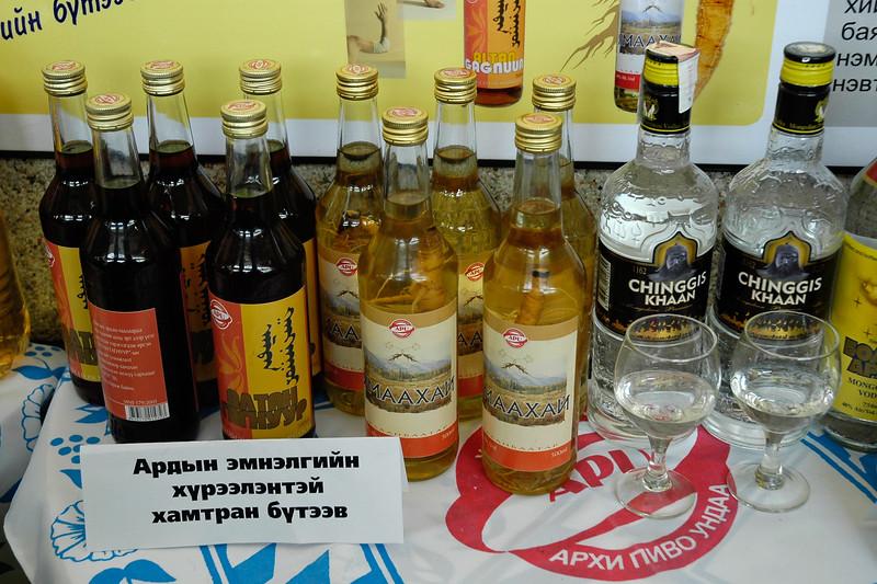 Chinggis Khaan Vodka being sold in UB (Ulaan Bator), Mongolia.