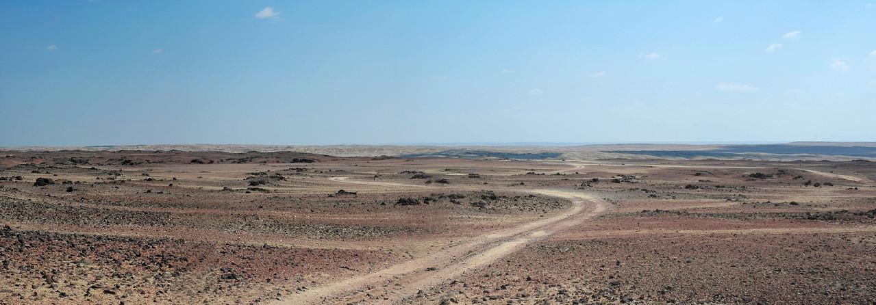 The vast and desolate panoramic Mongolia.