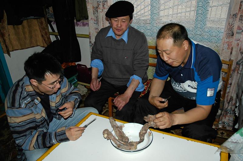 Dinner with Dr. Amarsaikhan Dash, Batpurev at a home near Erdene Zuu Monastary in Övörkhangai Province, in the town of Kharkhorin (near Karakorum) Mongolia.
