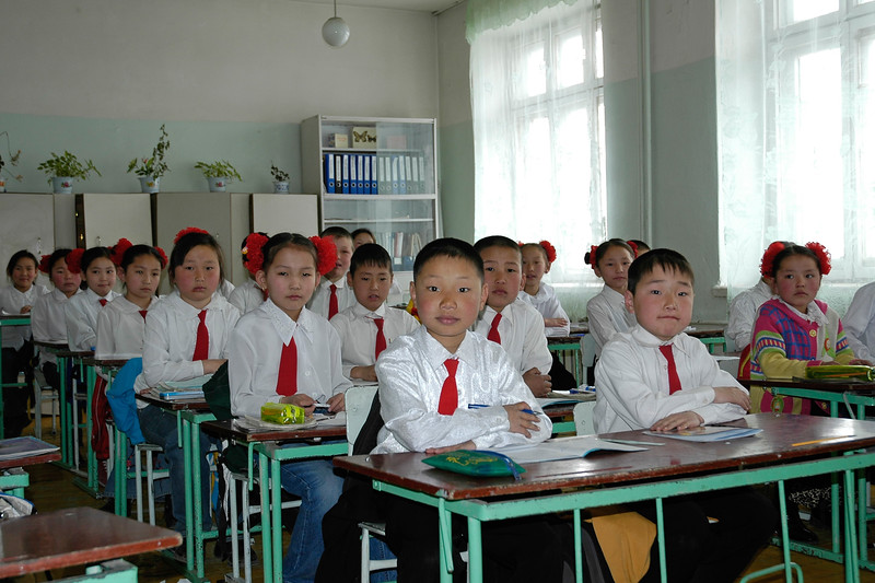 Students in a Mongolian School in Ulaan Baator (UB), Mongolia.