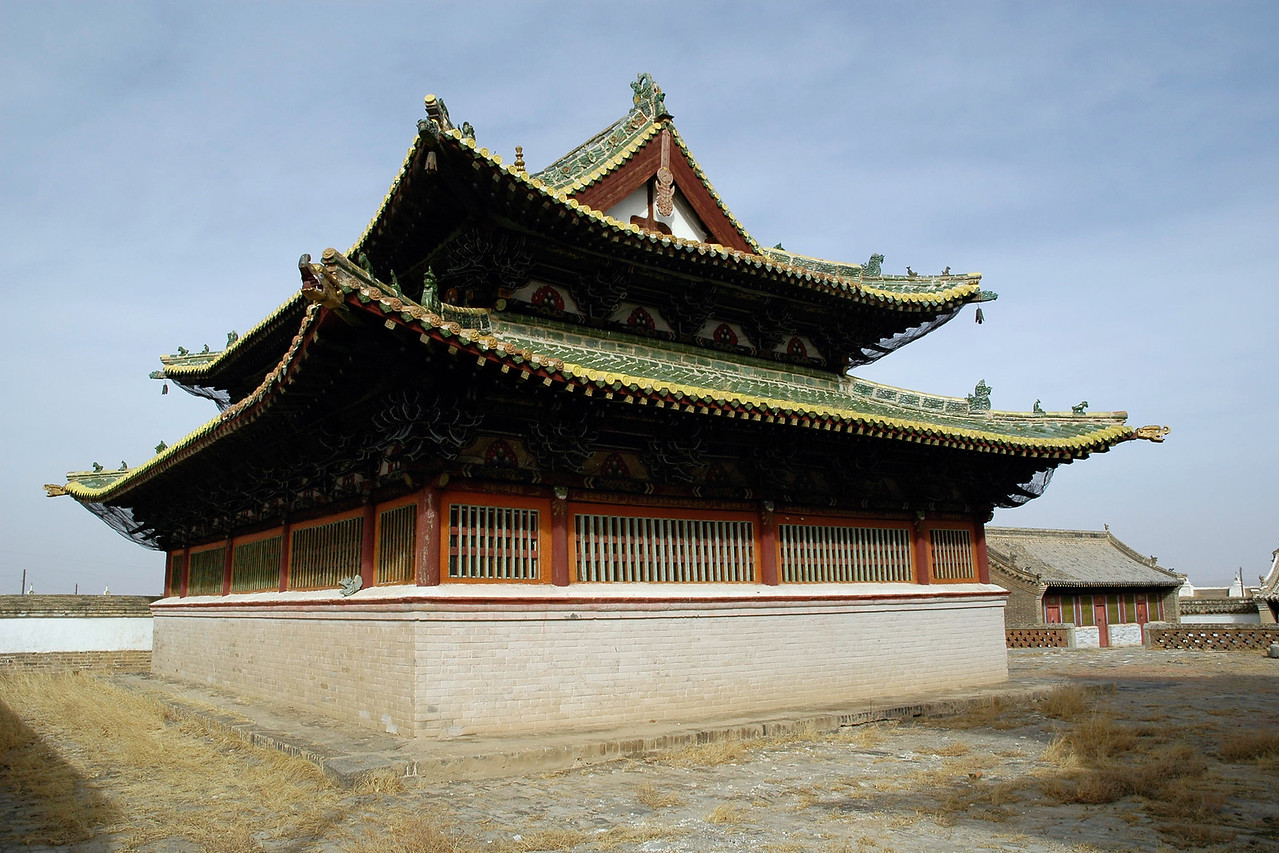 Small temple at Erdene Zuu monastery and museum, Kharkhorin. Karakorum, Central Mongolia