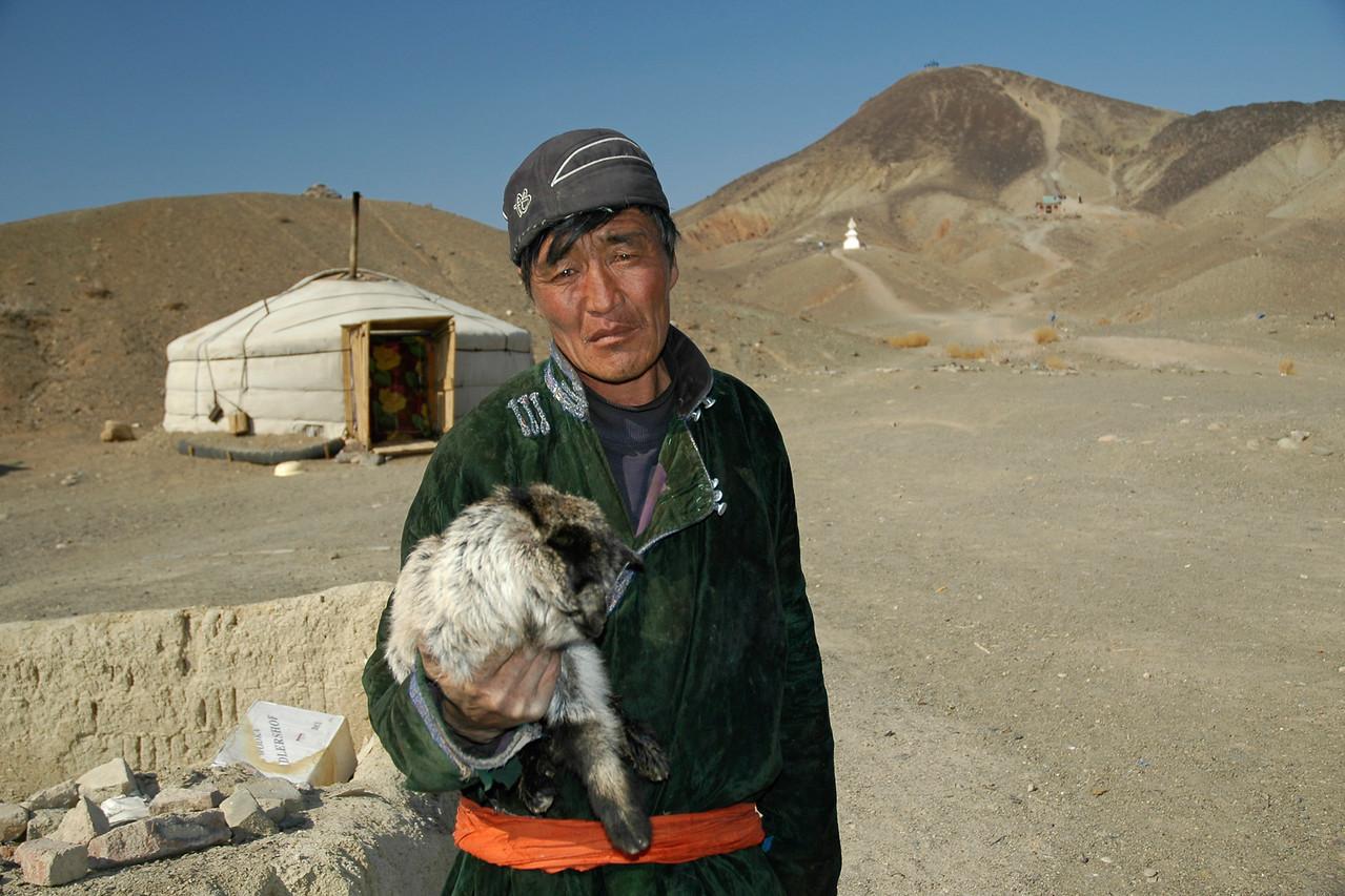 A new born in the Gobi desert, Mongolia.