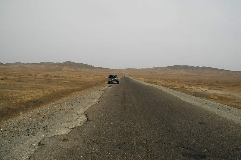 On the road towards Erdene Zuu which is in Övörkhangai Province, in the town of Kharkhorin (near Karakorum).