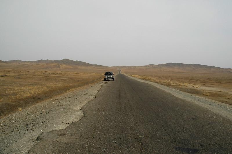 On the road towards Erdene Zuu which is in Övörkhangai Province, in the town of Kharkhorin (near Karakorum).