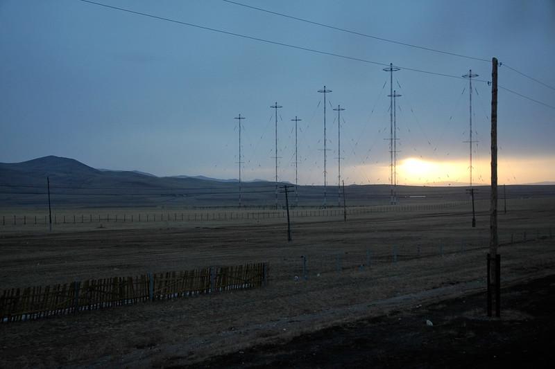 Sunrise over the Gobi desert, Mongolia