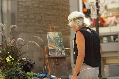 Vieux Montreal artist