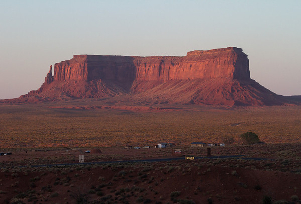 Eagle Mesa at sunset.