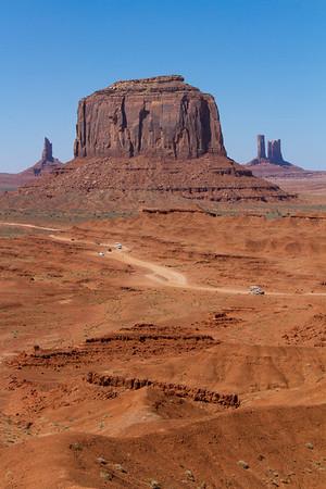 Features L to R:  Big Indian; Merrick Butte; Castle Rock
