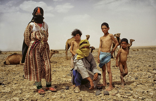 Nomadic family somewhere between the middle and high Atlas.   Morocco, 1995