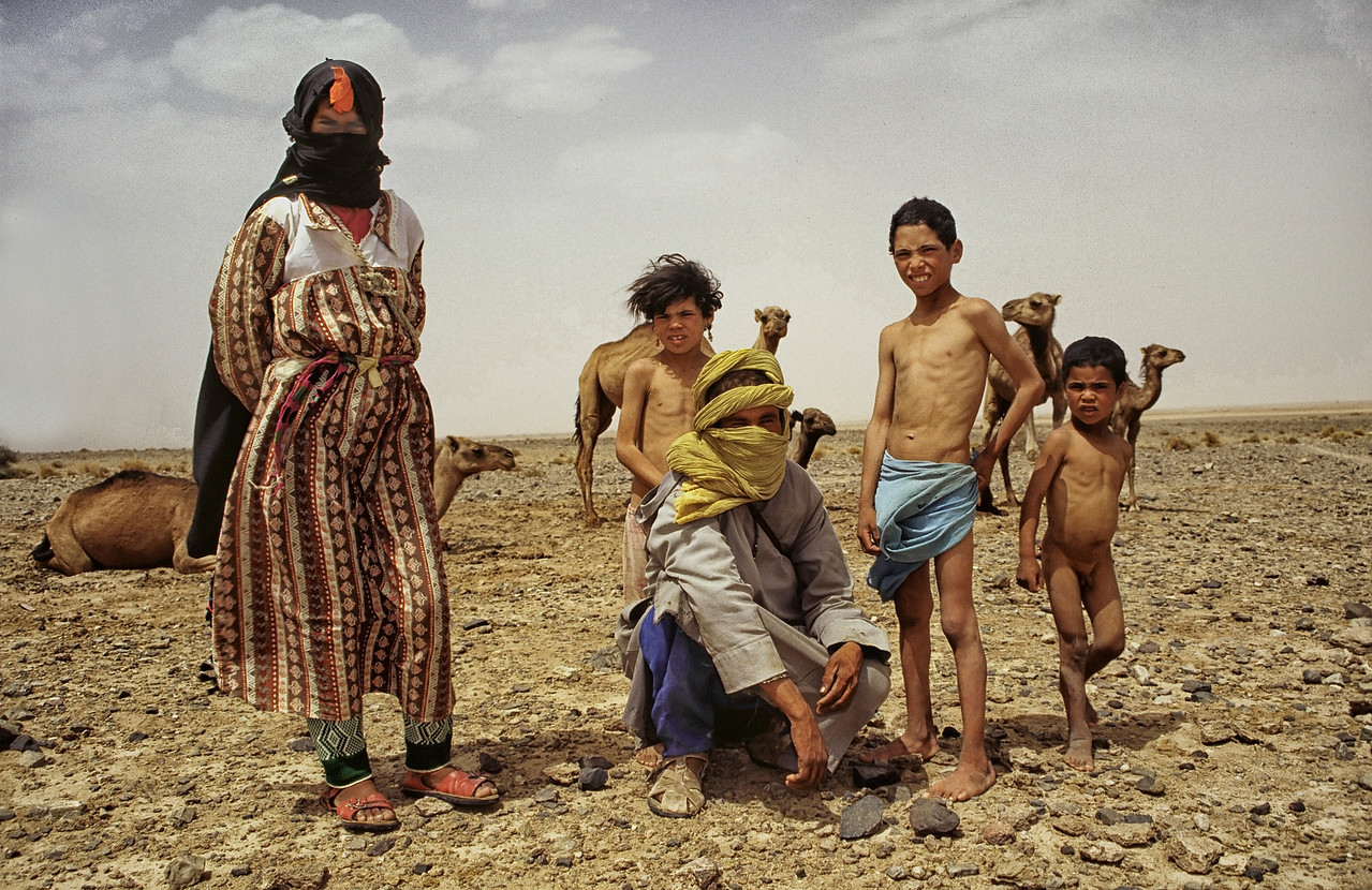 Nomadic family somewhere between the middle and high Atlas. <br /> <br /> Morocco, 1995