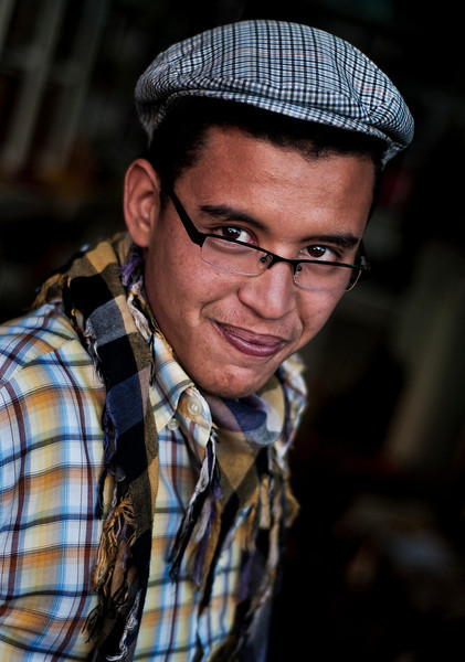 portrait of a young man.<br /> <br />  Marrakesh, Morocco, 2010