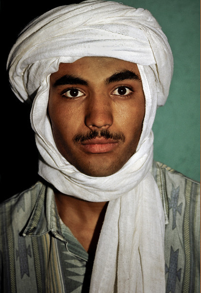 Portrait of a young, Berber man.<br /> <br /> Southern Morocco, 1995.