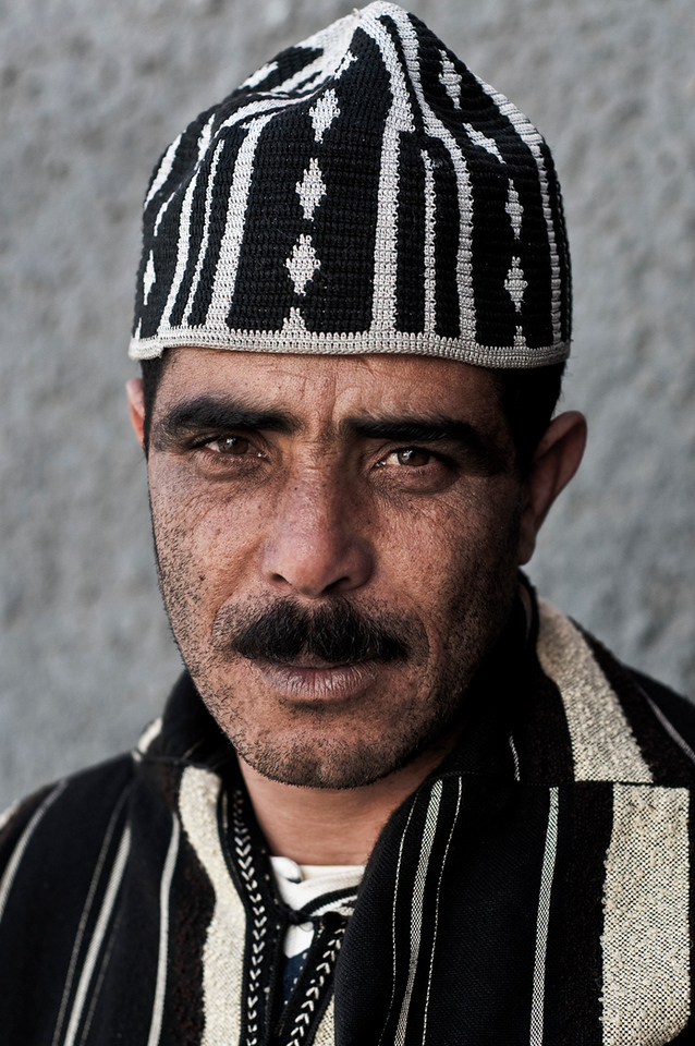 Portrait of a local man in Azemmour.<br /> <br /> Morocco, 2010