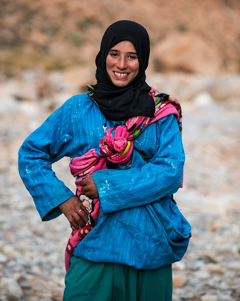A young Berber nomad.<br /> <br /> Todra Gorge, Morocco, 2018.