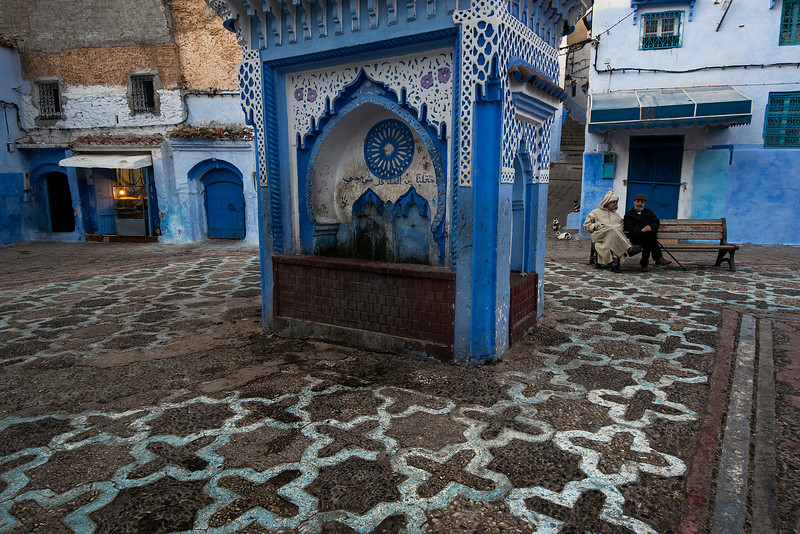 "In Chefchaouen (often abbreviated as ""Chaouen""), you'll be welcomed to one of the most chill, laid back towns in all of Morocco. Long famous on the backpacker trek, this small mountain town is now really blossoming into its own as a travel destination. Chaouen is far enough off the beaten track to dissuade most tourists, which makes it quiet enough for those visitors brave enough to venture to the edge of the Rif Mountains. The narrow, Chaouen-blue pedestrian streets give ways to wide squares and breathtaking views over the lush valley below.<br /> <br /> Chaouen is a respite of quiet after the busy medinas of Fez and Marrakech. However, it has enough of what is quintessentially Moroccan to be of interest to travelers looking for something a bit more authentic. <br /> <br /> Chefchaouen, Morocco, 2018."