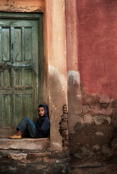 Boy in a small village in the Ameln Valley, near Tafraoute.<br /> <br /> Morocco, 2010.