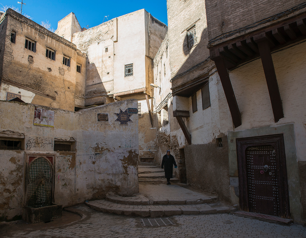 Street scene in the old medina.<br /> <br /> Fez, Morocco, 2018