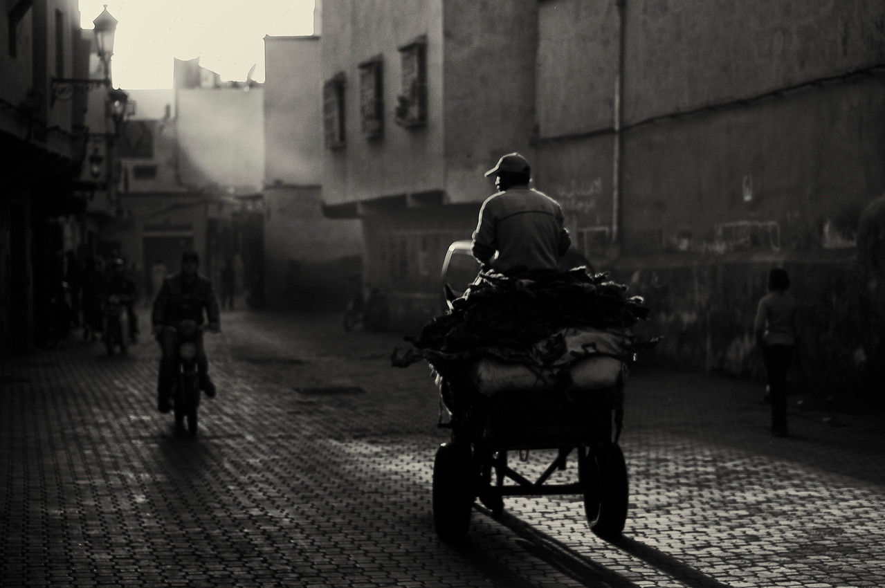 late afternoon in the Medina.<br /> <br /> Marrakesh, Morocco, 2010.