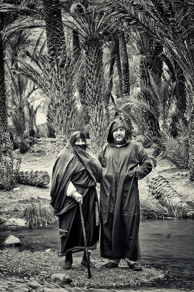 Man and wife in Tlata Tasrite, <br /> <br /> Tafraoute, Morocco, 2010.