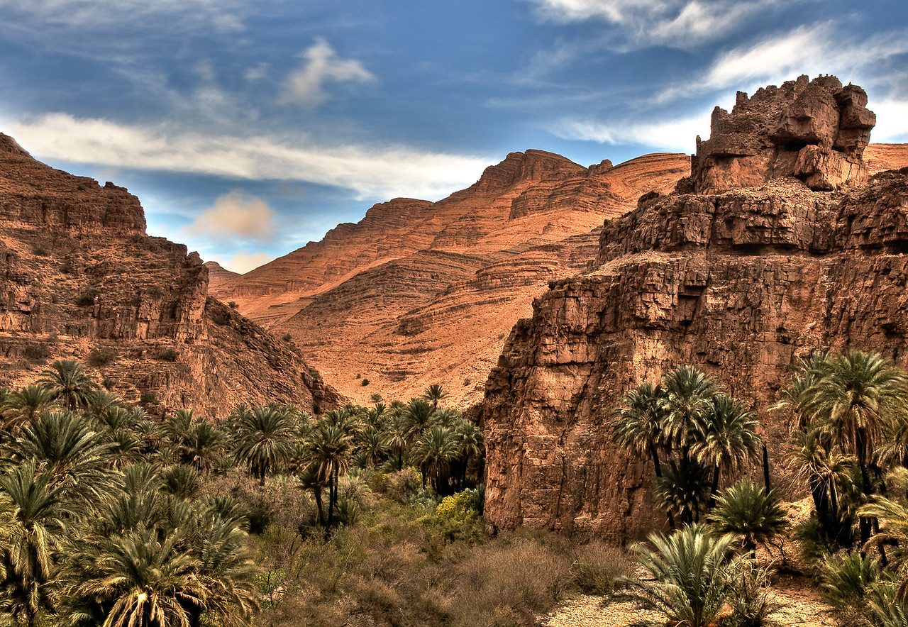 Landscape view.<br /> <br /> Southern, Morocco, 2010.