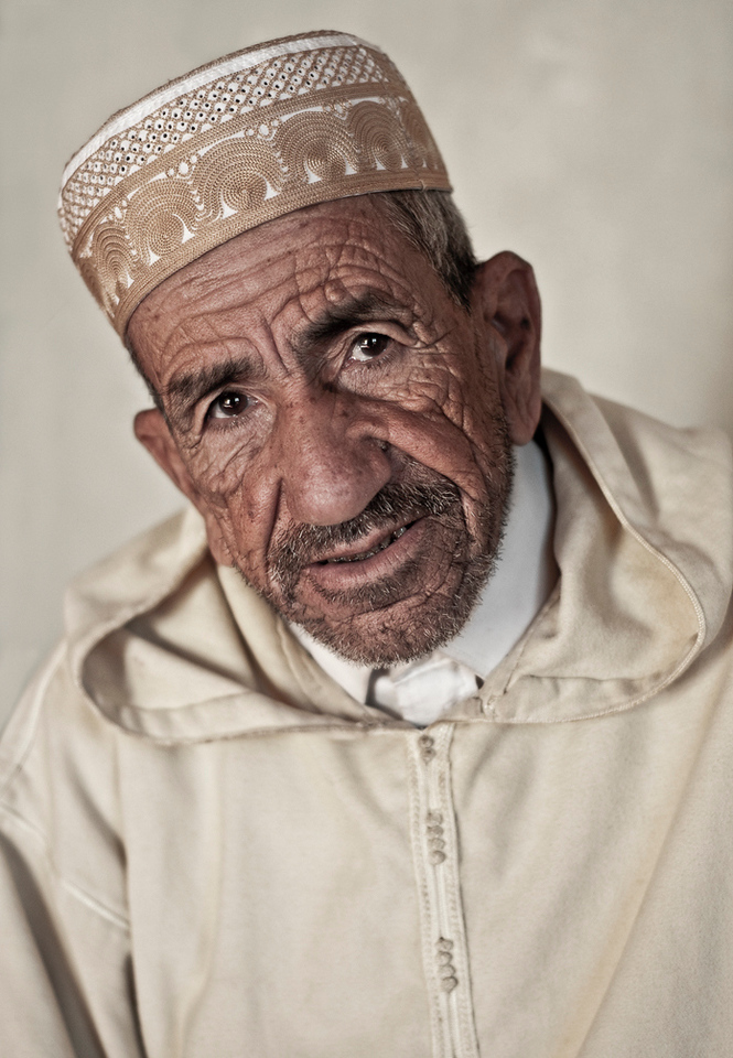 Descendant of the local Caid (leader), and now head of the extended family at the Kasbah Caid Ali, Agdz, <br /> <br /> Morocco, 2010