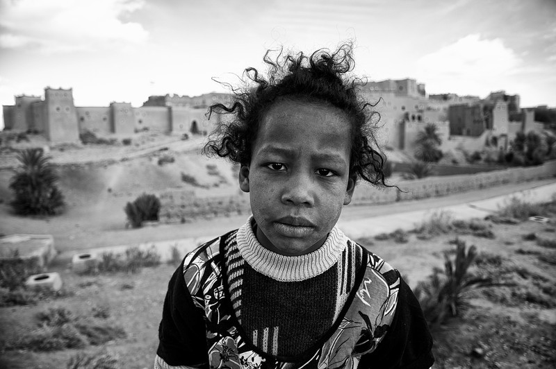 Portrait of a girl.<br /> <br /> Ouarzazate, Morocco, 2010.