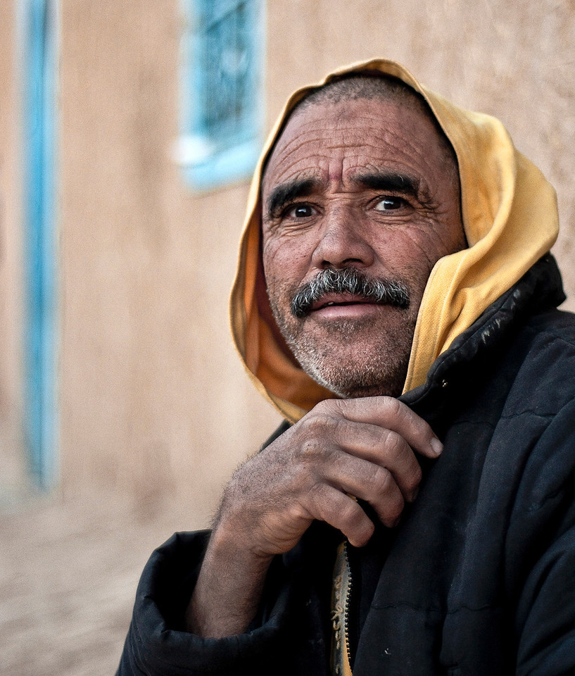 Portrait of a local man.<br /> <br /> Hassi Labied, Morocco, 2010.