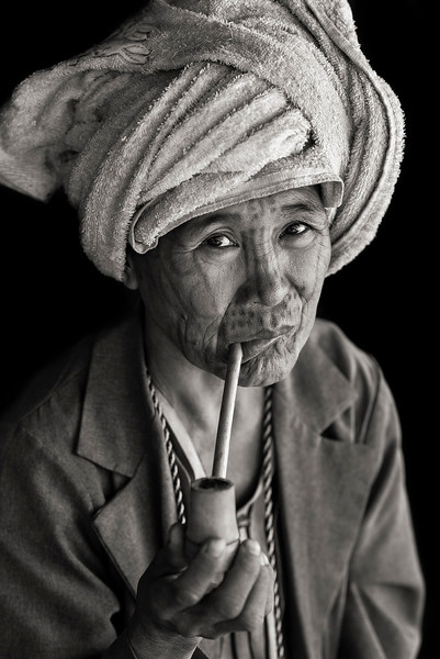 The Chin people in the remote mountain town of Mindat, have been marking women in the area with intricate face tattoos for centuries..<br /> With a variety of styles and designs the detailed markings have a deep rooted cultural significance to the largely Christian community.<br /> <br /> Chin State, Myanmar, 2017