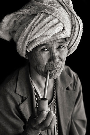 The Chin people in the remote mountain town of Mindat, have been marking women in the area with intricate face tattoos for centuries.. With a variety of styles and designs the detailed markings have a deep rooted cultural significance to the largely Christian community.  Chin State, Myanmar, 2017