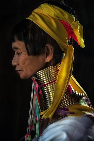 Kayan woman from southern Myanmar.