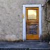 Brown door.
