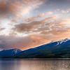 Sunset over Saddleback Mountain - Upper Arrow Lake.