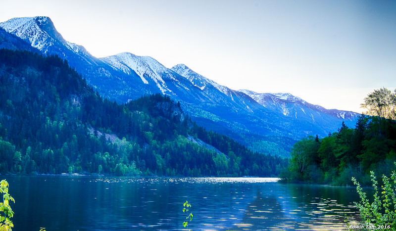 Early dawn - Three Sisters mountains as seen from Summit Lake.