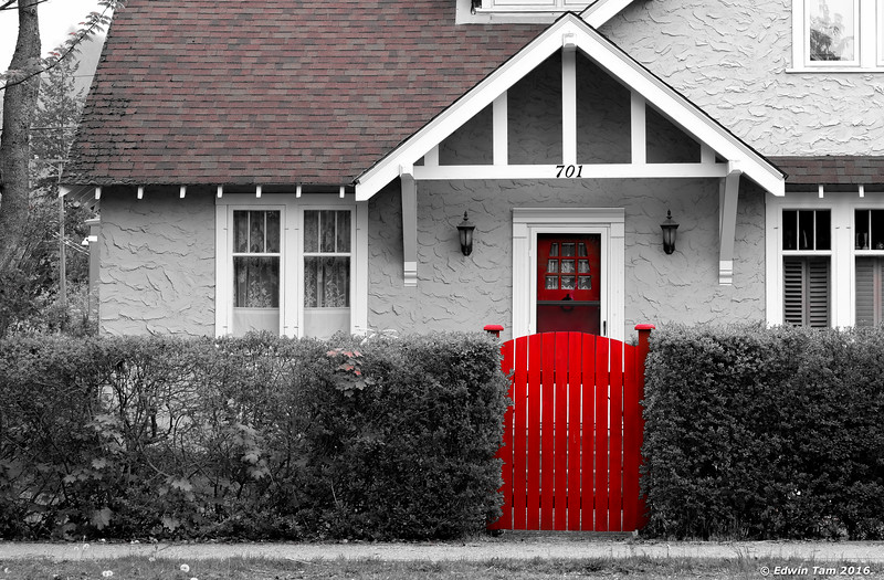 ... and a red gate!