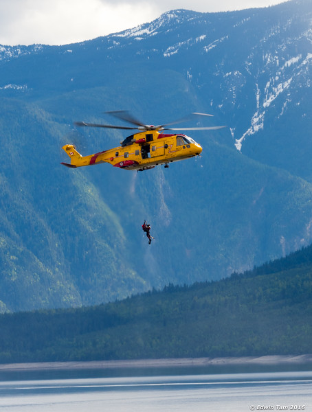 Comox search and rescue - practice runs.