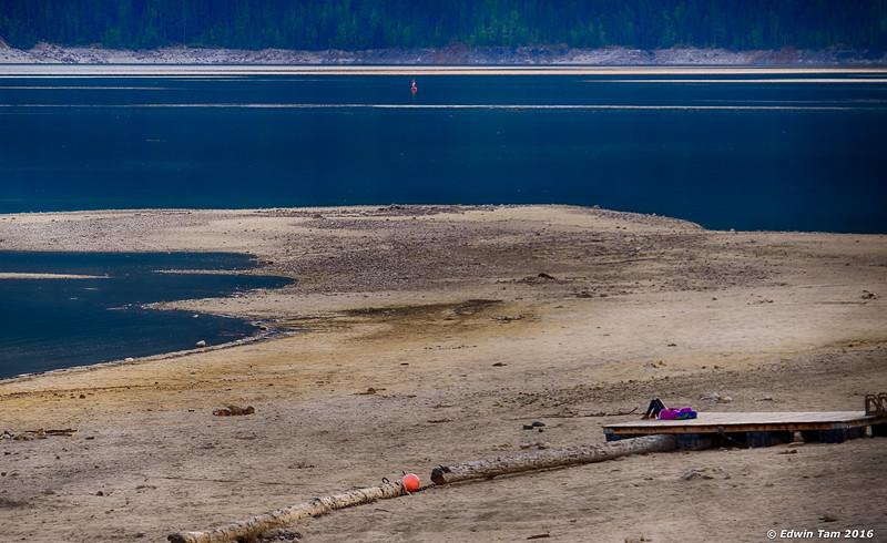 Solitude on the beach.