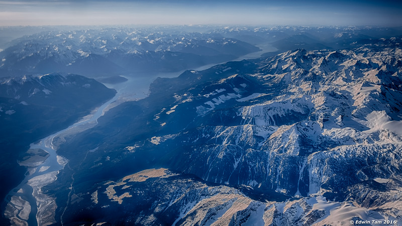 Morning - over the Rocky Mountains.