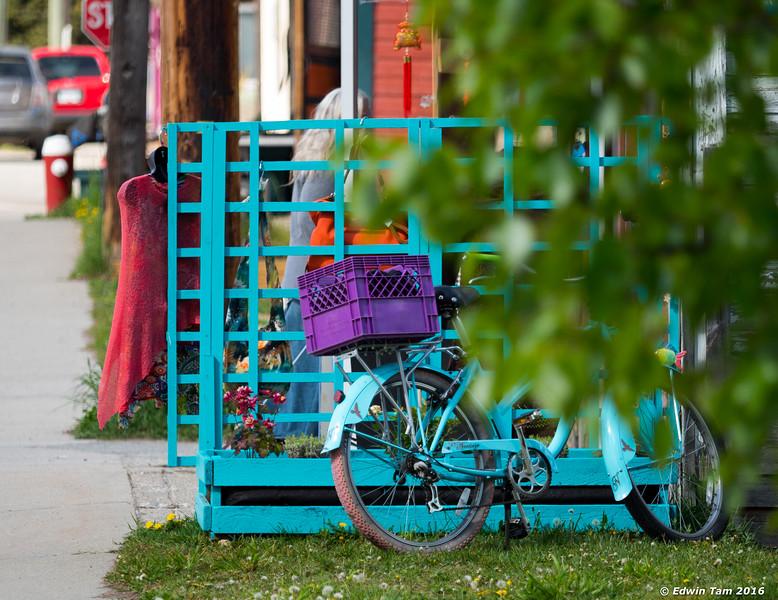 Peek-a-boo bike.