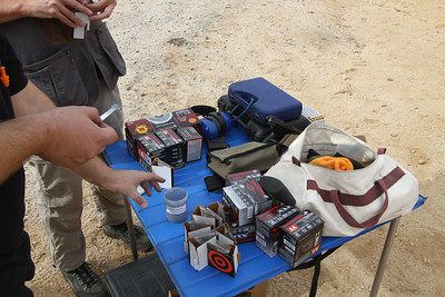 Loading up a bunch of targets with Tannerite