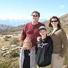 The Woods Family, high above Indio at Berdoo Camp, with San Jacinto mountains behind us to the southwest.