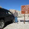 Chris Bradley and his recently lifted and upgraded 4Runner at the entrance to Joshua Tree National Monument along Berdoo Canyon.