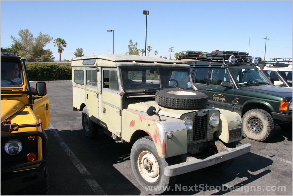 "Randy Rose's vintage 1957 Seriess I Land Rover (107"").  Very capable, but a bit fragile."