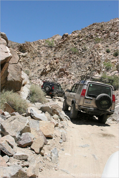 Halfway through Berdoo Canyon