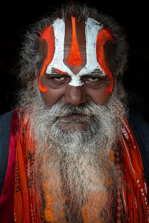 Portrait of a Sadhu.  Kathmandu, Nepal, 2019.