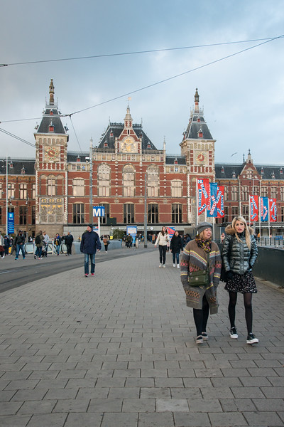 Amsterdam, Centraal Station. Amsterdam, Netherlands, Europe.
