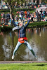 Everyone full of joy and exuberance on King's Day (formerly Queen's Day) celebrations in Amsterdam at Sarphatipark.<br /> <br /> King's Day 2016 - Koningsdag 2016 is the Dutch national holiday held on Wednesday 27 April 2016. Following the abdication of Queen Beatrix in 2013 and the inauguration of King Willem-Alexander.