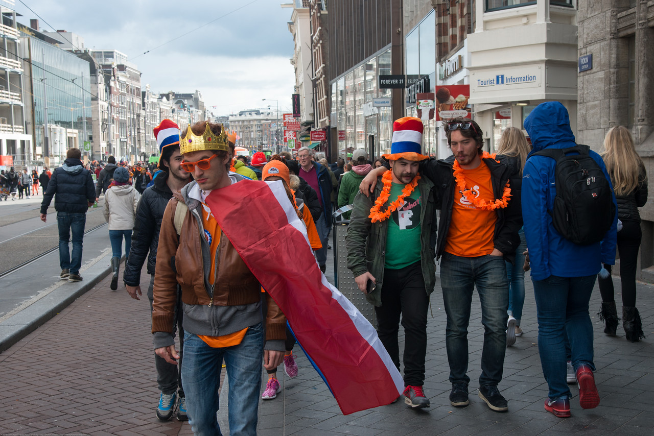 King's Day — Formerly Queen's Day — is the annual Dutch national holiday in honor of King Willem-Alexander. On King's Day there are celebrations throughout the Netherlands. However, the most popular destination is Amsterdam where an average of 700.000 visitors join the 822.000+ locals in the world's largest street party.